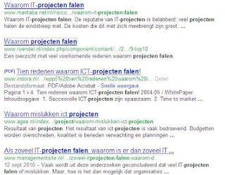 Wat is de overeenkomst tussen een vliegtuig crash en een mislukt project?