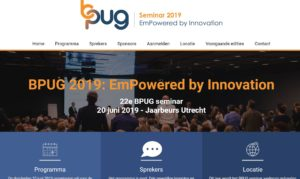 BPUG seminar 2019: 'EmPowered by Innovation' @ Jaarbeurs Utrecht