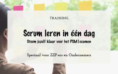 Training: Scrum PSM1 in één dag voor ZZP-ers en ondernemers