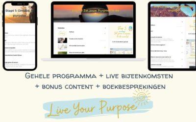 Live Your Purpose programma (online)